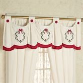 Holly Wreath Swag Valance Ivory 56 x 20