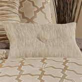 Quartz Tufted Pillow Beige Rectangle