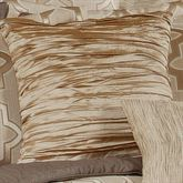 Quartz Ruched Tailored Pillow Beige 18 Square