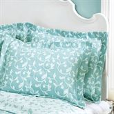Amanda Flanged Tailored Sham Aqua Standard