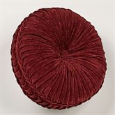 Dynasty Tufted Pillow Merlot Round