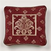 Dynasty Piped Pillow Merlot 18 Square