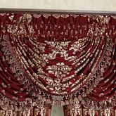 Dynasty Damask Waterfall Valance Merlot 42 x 33