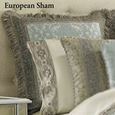 Hemmingway Fringed Sham Sterling Blue European