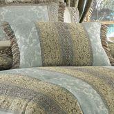 Hemmingway Fringed Pillow Sterling Blue Rectangle
