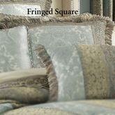 Hemmingway Fringed Pillow Sterling Blue 20 Square
