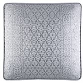 Wilmington Piped Pillow Chrome 18 Square