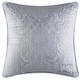 Wilmington Damask Piped Pillow Chrome 20 Square