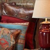 Ruidoso Concho Piped Sham Multi Warm European