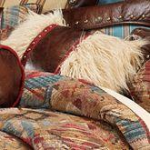 Ruidoso Faux Fur Pillow Multi Warm Rectangle