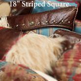 Ruidoso Striped Pillow Multi Warm 18 Square