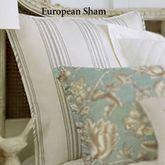 Grammercy Striped Piped Sham Light Cream European