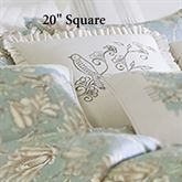 Grammercy Embroidered Bird Pillow Light Cream 20 Square