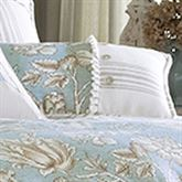 Grammercy Button Pillow Teal Rectangle
