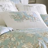 Grammercy Floral Piped Pillow Teal Rectangle