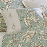 Grammercy Floral Piped Pillow Teal 18 Square