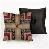 Triomphe Mitred Tufted Square Pillow Latte 20 Square