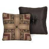 Triomphe Pieced Corded Pillow Latte 20 Square