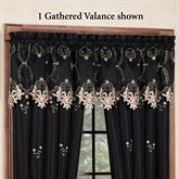 Annabella Rose Gathered Valance Black 70 x 18