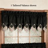 Annabella Rose Tailored Valance Black 60 x 14