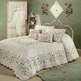Posy Grande Bedspread Ivory