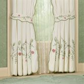 Posy Tailored Curtain Pair Ivory 84 x 84