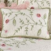 Posy Tailored Rectangle Pillow Ivory Rectangle