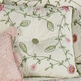 Posy Tufted Square Pillow Ivory 18 Square