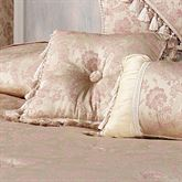 Chambery Tasseled Square Pillow Champagne 16 Square
