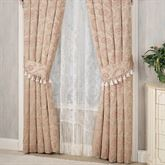 Chambery Tailored Curtain Pair Champagne 84 x 84