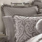Babylon Tailored European Sham Silver