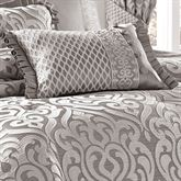 Babylon Flanged Rectangle Pillow Silver