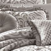 Babylon Flanged Square Pillow Silver 20 Square