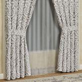 Babylon Tailored Curtain Pair Silver 98 x 84