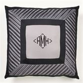 Omega Tailored Mitred Pillow Dark Gray 20 Square