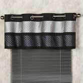Omega Tailored Grommet Valance Dark Gray 60 x 18