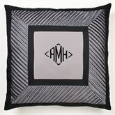 Omega European Pillow with Sham Dark Gray