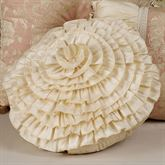 Chantilly Rose Ruffled Pillow