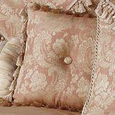 Chantilly Rose Tasseled Pillow