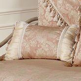 Chantilly Rose Tasseled Rectangle Pillow Rose