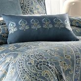 Belcourt Embroidered Rectangle Pillow Blue Shadow