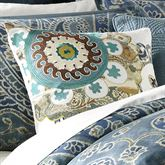 Belcourt Tailored Square Pillow Blue Shadow 18 Square