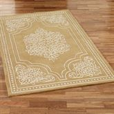 Golden Lace Rectangle Rug