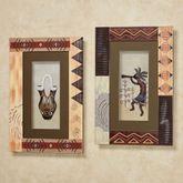Southwest Kokopelli Shadow Box Wall Art Multi Warm