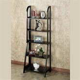 Kimber Tall Ladder Shelf Only Black Five Tier