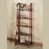 Kimber Tall Ladder Shelf Only Classic Cherry Five Tier