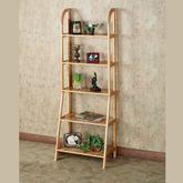 Kimber Tall Ladder Shelf Only Natural Oak Five Tier