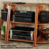 Kimber Short Ladder Shelf Only Mission Red Oak Three Tier