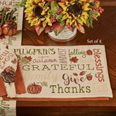 Harvest Sentiments Placemats Multi Earth Set of Four