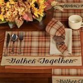 Gather Together Border Placemats Terra Cotta Set of Four